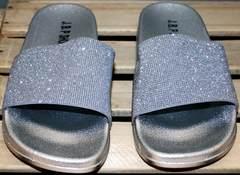 Шлепанцы с камнями J.B.P. Shoes Nu1213 Silver.