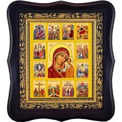 Казанская икона Божьей Матери с житием.