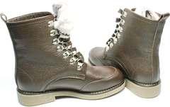 Ботинки по типу мартинсов женские зимние коричневые Studio27 576c Broun.