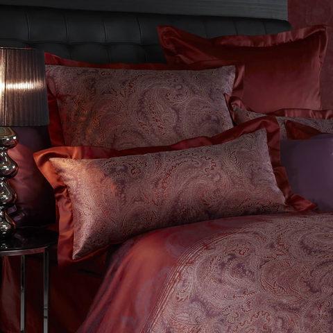 Постельное белье 1 спальное Curt Bauer Katharina гранатовое