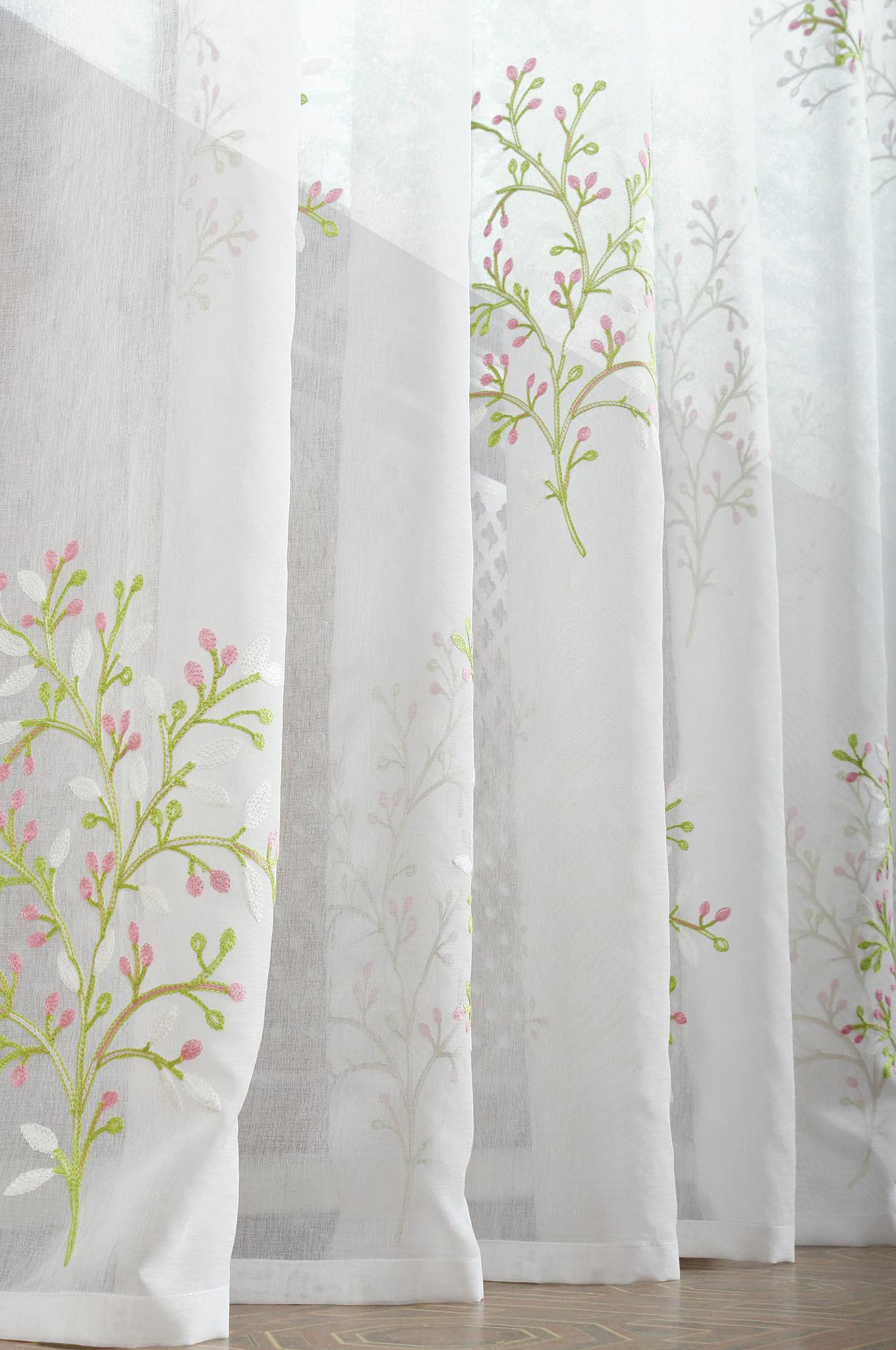 Готовая штора Верба (розовая)