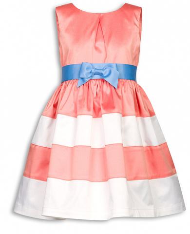 Pelican GWDV3015  Платье для девочек нарядное персиковое из сатина