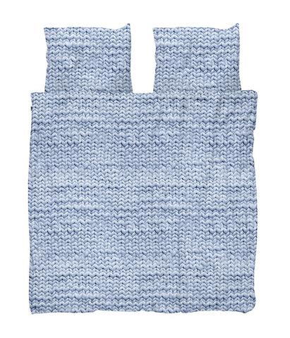 Комплект постельного белья Косичка синий фланель 200x220см, Snurk