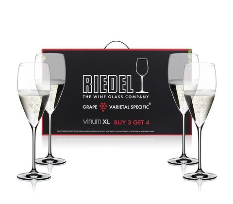 Набор из 4-х бокалов для шампанского Vintage Champagne Pay 3 Get 4 340 мл, артикул 7416/28 Серия Vinum XL
