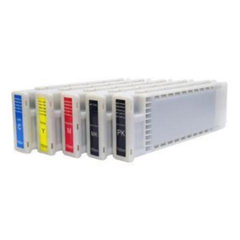 Перезаправляемые картриджи ПЗК для Epson SC-T3200, SC-T5200, SC-T7200. Комплект с одноразовыми чипами.