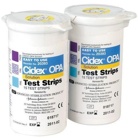 CX20393 Тест-полоски на средство дезинфицирующее Сайдекс ОПА, 15шт/уп Cilag GmbH International, ASP; Швейцария