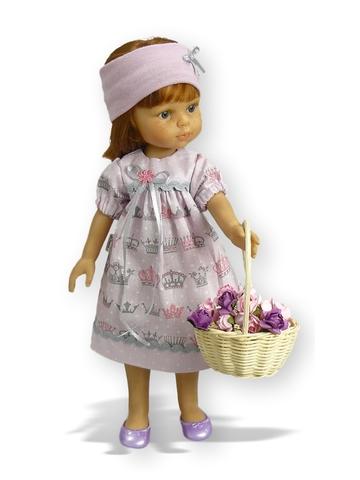 Платье хлопковое - На кукле. Одежда для кукол, пупсов и мягких игрушек.