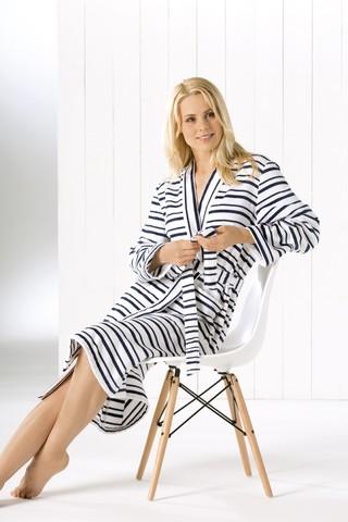 Элитный халат-кимоно велюровый 3494 белый от Cawo