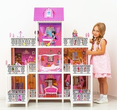 PAREMO Трехэтажный кукольный дом (7 комнат, 3 куклы) (PPCD116-08)