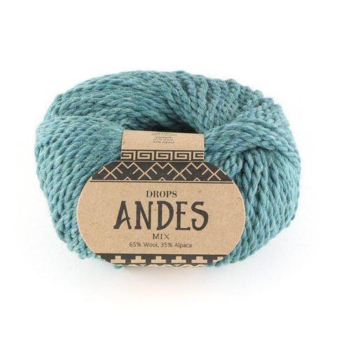 Пряжа Drops Andes 7130 зелено-голубой