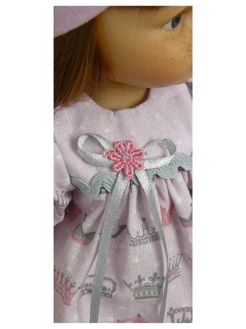 Платье хлопковое - Детали. Одежда для кукол, пупсов и мягких игрушек.
