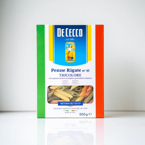 Макароны пенне Penne Rigate Tricolore № 41, De Cecco, 500 гр