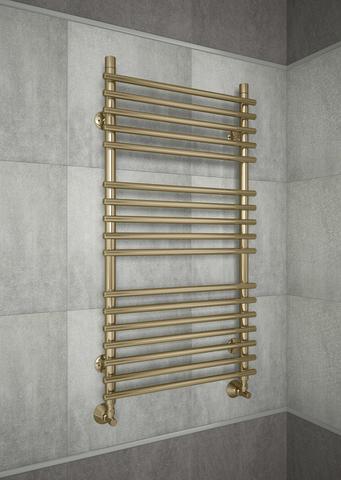 Vatra Bronze - бронзовый полотенцесушитель с перекладинами внахлест. Бронза.