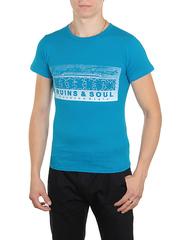 18666-2 футболка мужская, голубая