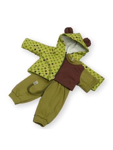 Трикотажный костюм - Зеленый. Одежда для кукол, пупсов и мягких игрушек.