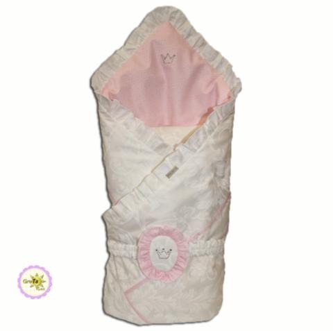 Анжелика плед-конверт розовый
