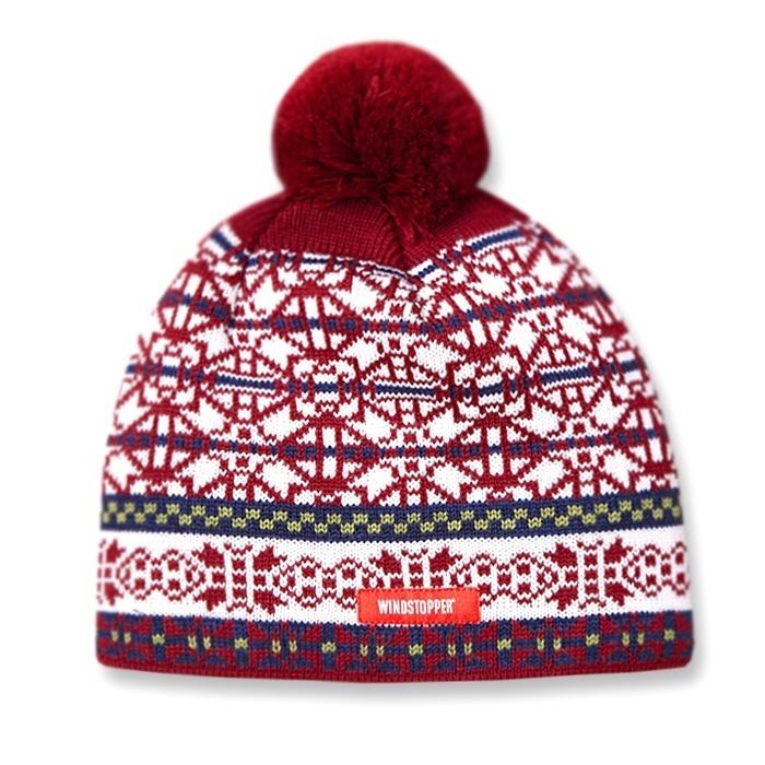 Шапки с помпоном Шапка вязаная с помпоном непродуваемая Kama Aw11 Red knitted-hat-kama-aw11-windstopper-default__1_.jpg