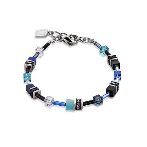 Браслет Coeur de Lion 4838/30-0706 цвет голубой, синий, чёрный