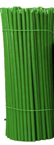 Свечи №30 восковые, зеленые