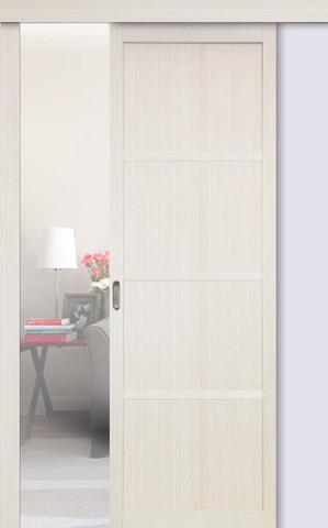 Перегородка межкомнатная Optima Porte 104.1111, цвет беленый дуб, глухая (за 1 кв.м)