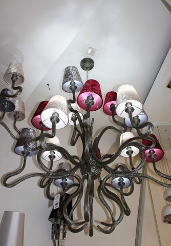replica chandelier   Ode 1647  by Jacco Maris   ( 12 shades )
