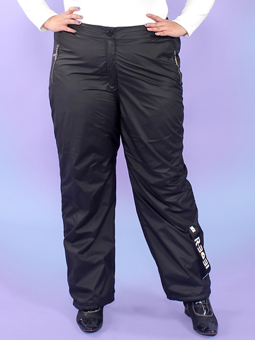 Утеплённые брюки на флисе