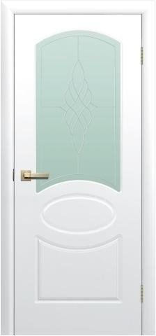 Дверь Сибирь Профиль Соната ДО, стекло матовое, цвет белый, остекленная