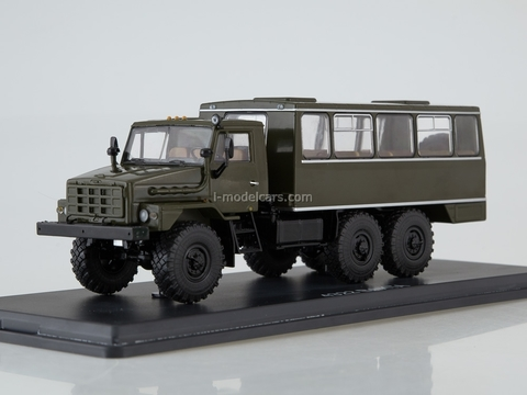 Ural-4322 NZAS-4211 shift work bus khaki 1:43 Start Scale Models (SSM)