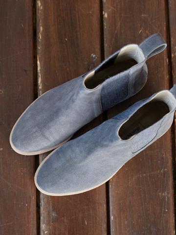 Ботинки Челси из замши серый