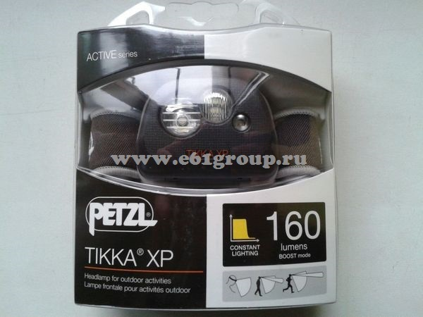 светодиодный фонарь Petzl TIKKA XP черный купить