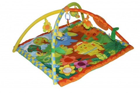 Игровой коврик для новорожденных  Lorelli  Джунгли