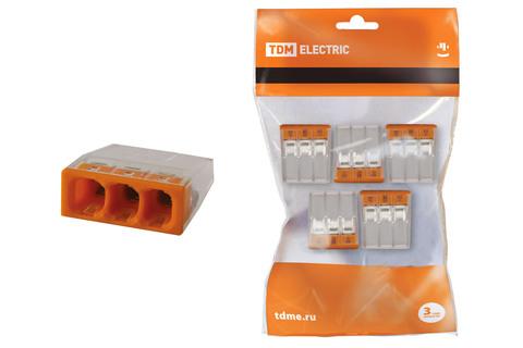 Строительно-монтажная клемма КБМ-2273-233 (2,5мм2) с пастой (5 шт/упак) TDM