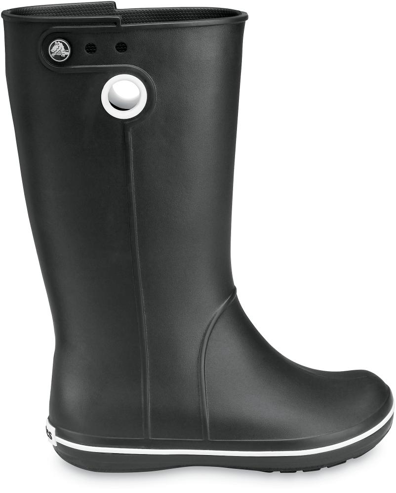 b07a9c8b Резиновые сапоги женские (черные) Crocs Crocband Jaunt Women's Black