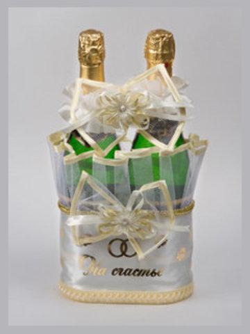 Корзинка для шампанского бежевая (без ручек)
