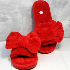 Домашние тапочки женские красные Yes Mile A-08 Red Bow