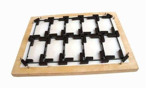 Штанцформа для вырубки визиток 1х10, радиус 5 мм (PFXVK_10_R5)