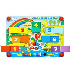 Бизиборд Alatoys Учим цифры и цвета