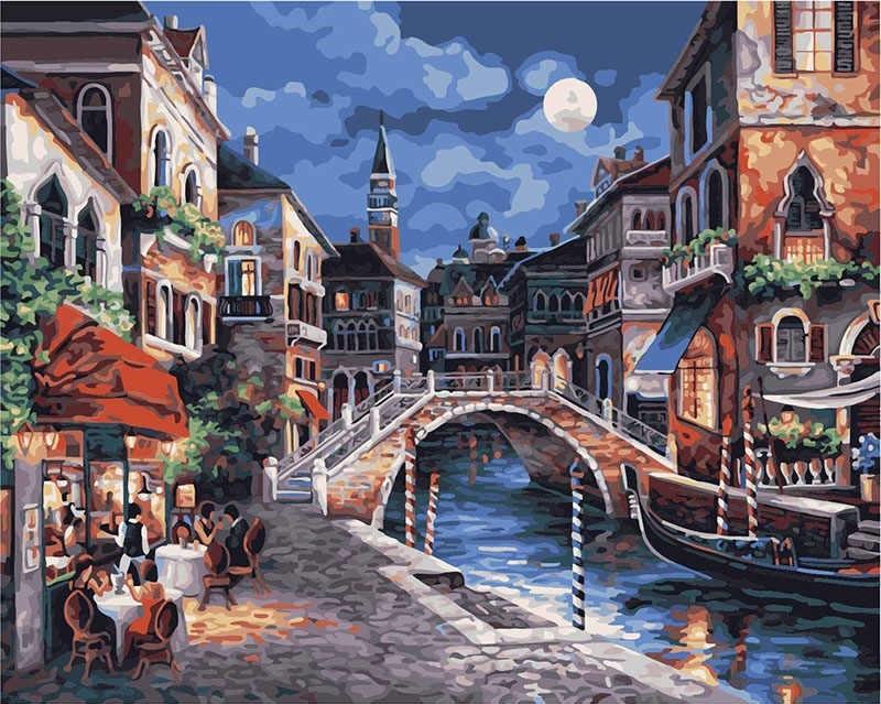Картина раскраска по номерам 40x50 Вечерняя Венеция (арт ...