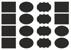 набор наклеек 4,5*6 см фигурные, черные  (2 листа)