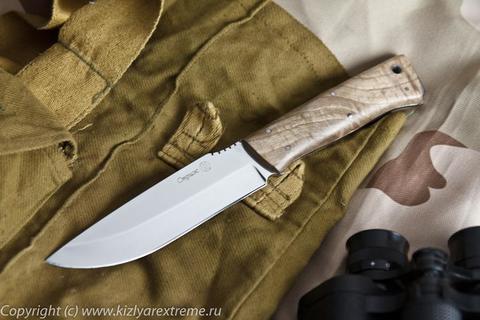 Туристический нож Стриж Полированный Орех z90