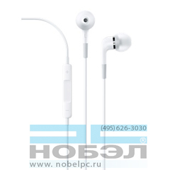 Наушники apple In-Ear Headphones with Remote and Mic