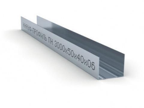 Потолочный профиль направляющий Кнауф  50х40х3000 мм 0,6 мм