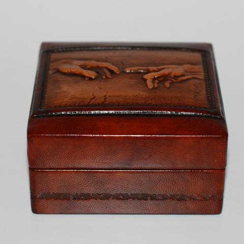 Шкатулка из натуральной кожи
