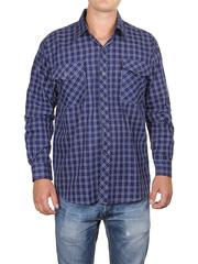 685-2 рубашка мужская, темно-синяя