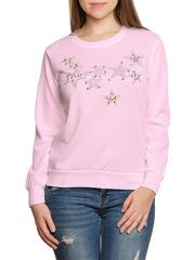 37754-3 Толстовка женская, розовая