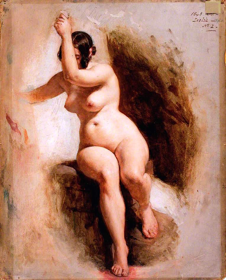 Уильям Эдвард Фрост. 1843. Этюд женщины (Female Life Study). 53.5 х 43. Холст, масло. Лондон, Музей Виктории и Альберта.