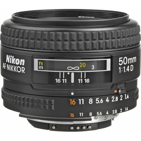 Объектив Nikon 50mm f/1.4D AF Nikkor