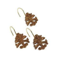 Набор из 12 крючков для шторки Fleur di Lis Gold от Carnation Home Fashions