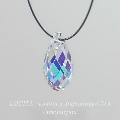 6010 Подвеска Сваровски Drop Crystal AB (13х6,5 мм) (Картинка)