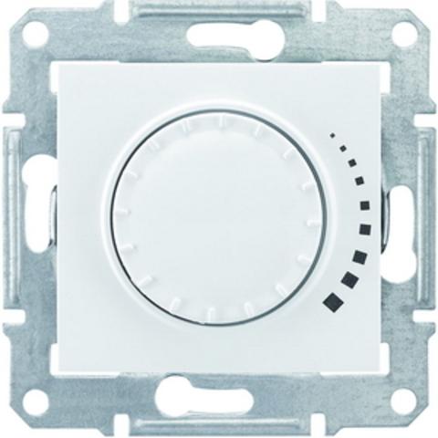 Светорегулятор/Диммер поворотный 25-325 Вт/Ва емкостный, проходной Цвет белый. Schneider Electric Sedna. SDN2200721
